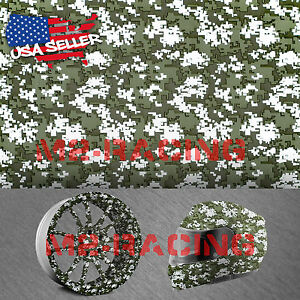 "19""x78"" Hydrographic Film Hydro Dipping Dip Water Transfer Digital Army Green #7"