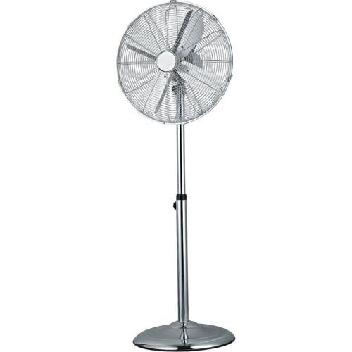 40cm chrome étage ventilateur 50W oscillant 3 vitesses lames métalliques 120cm haut support ventilateur