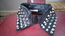 FAUX COLLAR PVC WITH METAL SPIKES rock goth biker punk glam