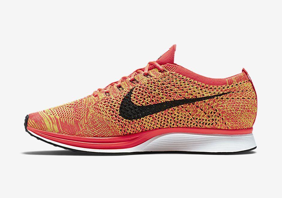 Nike Flyknit Racer Orange Bright Crimson Volt (41-42,5) 526628602