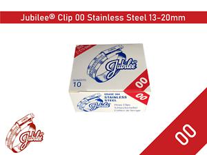 Acier Inoxydable Véritable Jubilee Colliers de serrage taille 13-20 mm REF 00 Tuyau Clip