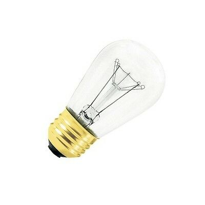 Pack of 24 Clear Bulb Satco 11S14 Incandescent Indicator /& Sign 11W E26 S14