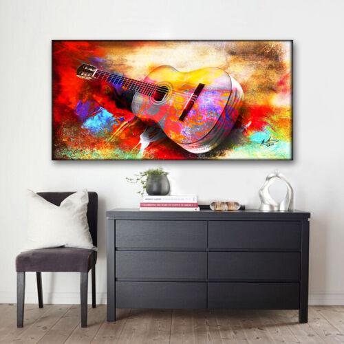 Gitarre Musik Musikinstrumente Abstraktes Bilder auf Leinwand Wandbild XXXL 213A