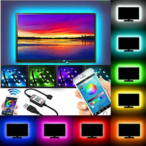 USB Power LED Strip Lights 5050 RGB Bluetooth APP Remote TV Backlight Music 5V