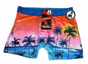 edcc071a84 Crazy Boxer TROPICAL Palm Trees Yacht Sun Bright Colorful Briefs ...