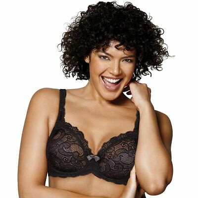 New Playtex Black Lace Love My Curves Lift Bra 40C Style 4825 MSRP $42