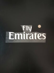 Sponsor Commerciale Fly Emirates Kit Patches Badges x maglia calcio Bianco