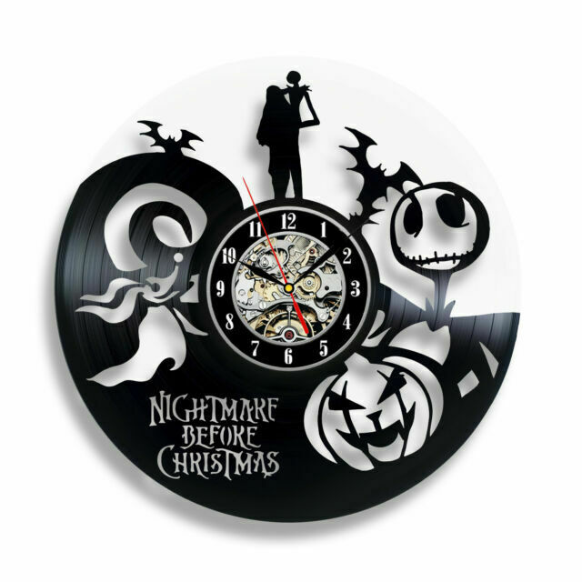 The Nightmare Before Christmas Wall Clock Gift Decor Vinyl Record