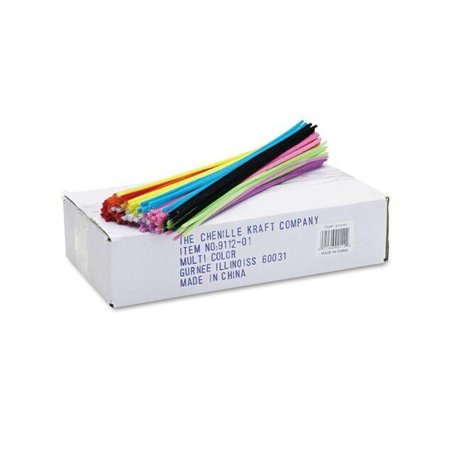 Chenille Kraft Regular 12 x4mm Stems Craft Pipe Cleaner - 1000/Pk