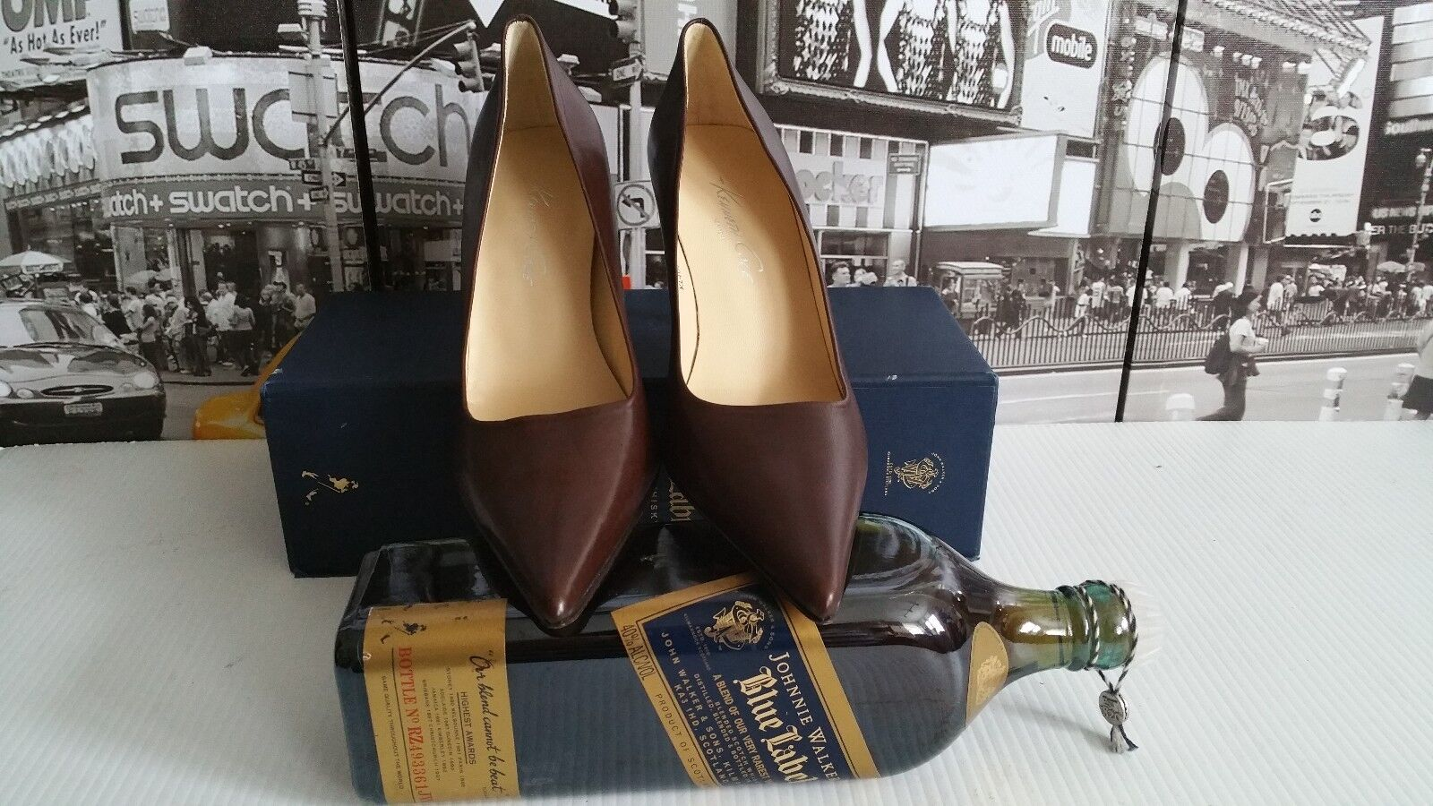 Gorgeous Kenneth Cole New York Pointed-Toe Pumps Brown Leather US 7 M Must Have