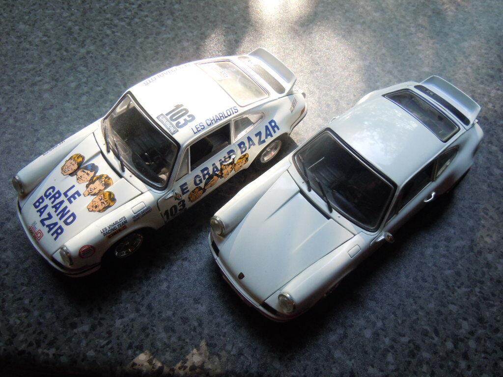 2 x rara Porsche Carrera RS sportwagenenmodelle de universal hobbies en 1 18