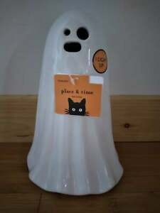 """Halloween Multi Color Changing LED 8.5"""" Ceramic Light Up Ghost"""