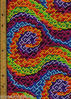 Color Quake 2 Quilt Quilting Fabric By Half Yard 5495-205 Geometric Multicolor