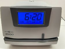 Pyramid Punch Card Time Clock System Model 3500 Light Gray Time Recording System