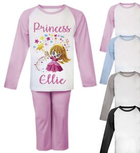 Princess Personalised Kids Pyjamas Children/'s Pjs Girls Christmas Gifts Disney 1