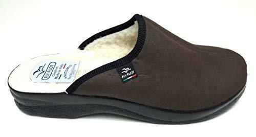 CréAtif Fly Flot 82920 Kl Avec T.marron Chaussons Homme Doublure Laine Made In Italy