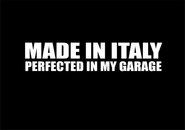 W264 ITALY MADE FUNNY CAR STICKER VAN CARAVAN 4X4 VINYL DECAL Fiat Punto 500