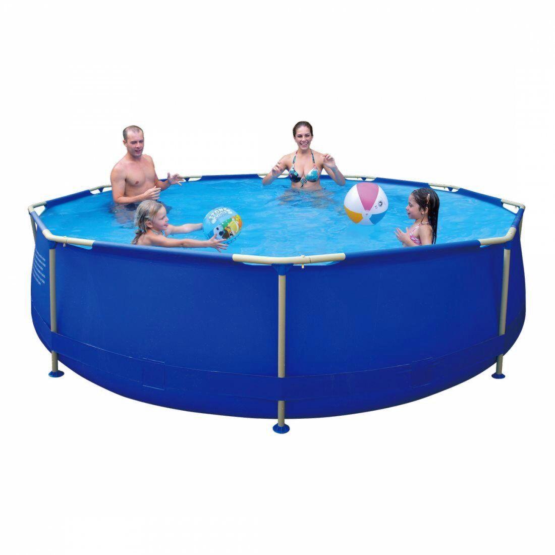 marchio in liquidazione Jilong Jilong Jilong Sirocco blu 360 - piscina con struttura in acciaio, rotonda ø360x76cm  varie dimensioni