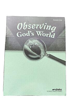Observing Gods World Answer Key Abeka | eBay