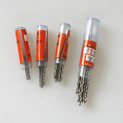 10Pcs 0.3-3mm Micro HSS Twist Drilling Bit Straight Shank Electrical Drill Tool