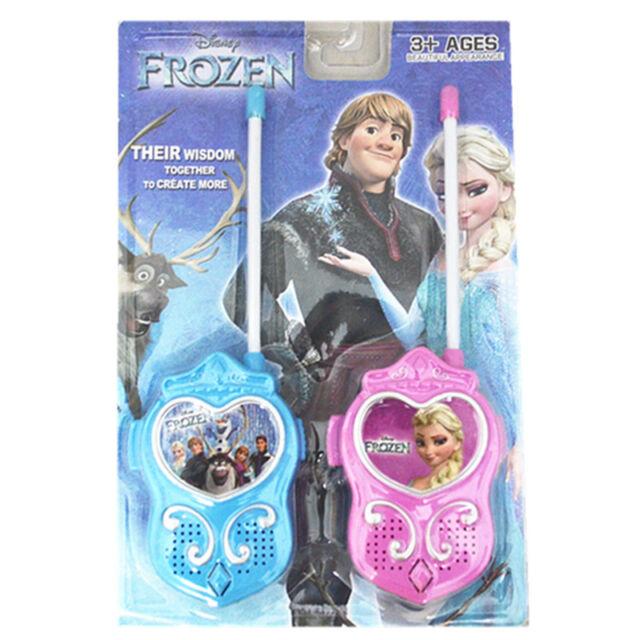 2x Frozen Figures Walkie Talkie Two-Way Radio Phone Interphone Kids Children Toy