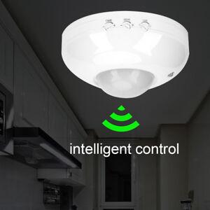 Détecteur de mouvement plafond 1200W construit PIR capteur infrarouge éclairage