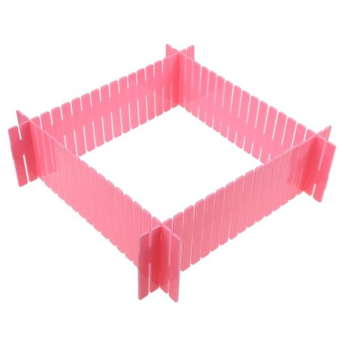 4Pcs Adjustable Clapboard Drawer Divider Partition Storage Organiser Wardrobe