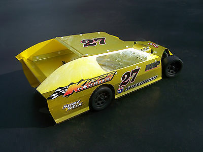 1/10 SCALE RC DIRT OVAL MIDWEST IMCA DIRT MODIFIED BODY KIT