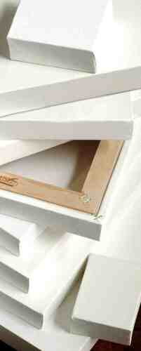 """18mm Stretched /& Gesso Primed Blank Canvas 40x50cm 16x20/"""" Large Thin Edge"""