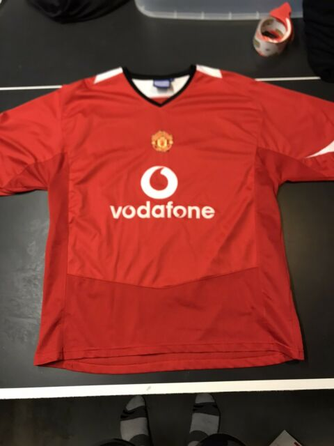 Manchester United Jersey Vodaphone Men's Size XL Red Magna Sports Soccer Futbol