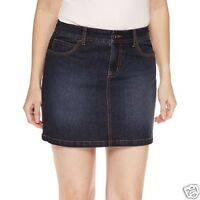 St. John's Bay Denim Skort Dark Wash Easy Fit Size 8p