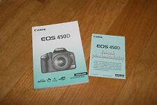 Canon EOS 450D Gebrauchsanleitung Holländisch Instructie Handleiding NEDERLANDS
