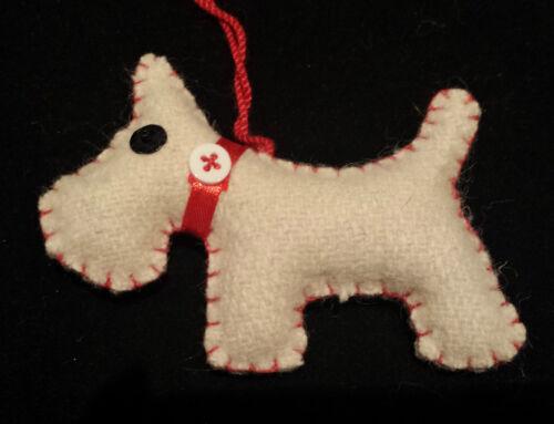 Feutres Scottie Chien Décoration de Noël arbre penché cadeau amoureux des chiens
