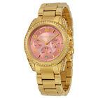 Michael Kors Blair Chronograph Pink Dial Gold-tone Ladies Watch MK6218