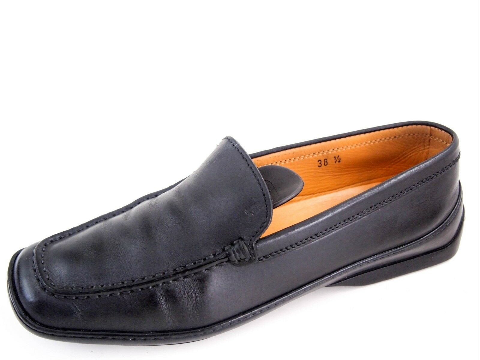 TOD's moccasins loafers, black leather, women's shoe size, US 8.5 $450