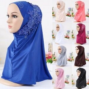 Women-Muslim-Caps-Hijab-Scarf-Islamic-Wrap-Arab-Shawl-Hat-Head-Cover-Turban