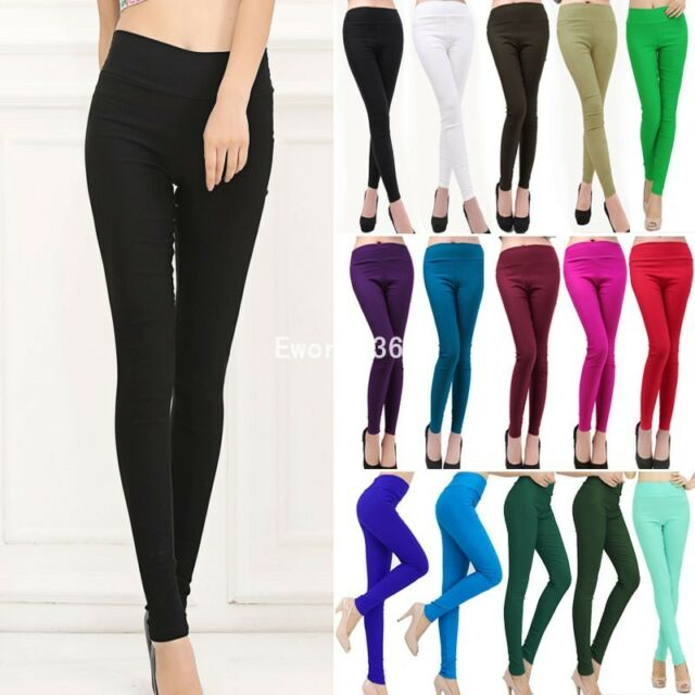Sexy Womens High Waist Skinny Stretch Slim Fit Pencil Pants Trousers