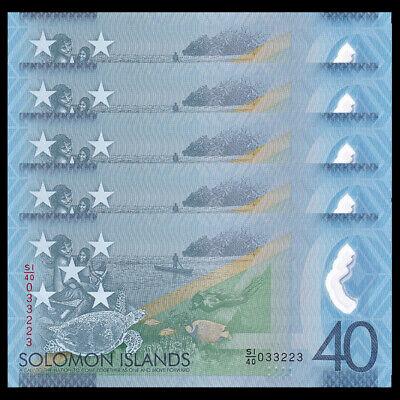 P-33 NEW 2017 UNC Salomonen // Solomon Islands 10 Dollars Lot 5 PCS