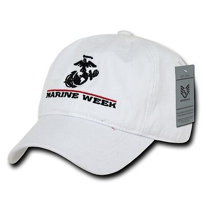 White Marine Week Cleveland 2012 Marines US Army Baseball Ball Cap Caps Hat Hats