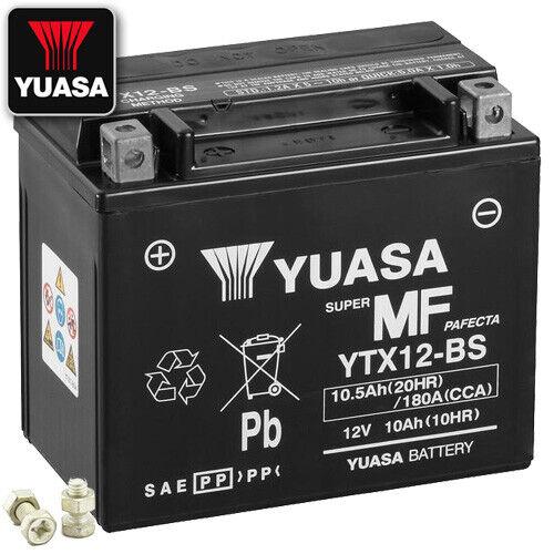 2007 Yuasa ytx12-bs AGM Batterie PEUGEOT Satelis 400 Premium Bj