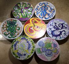"Lot of 7 SPRINGBOK Thingies 7"" Round MiniPuzzles 60 Pc Sandy Miller Circular"