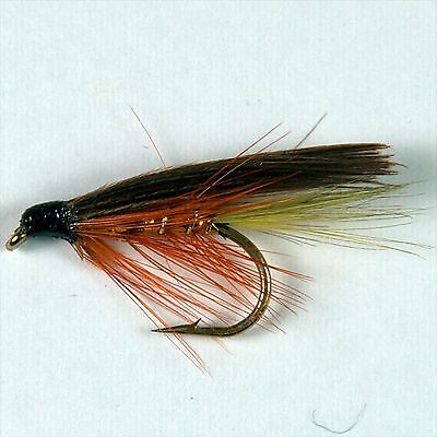 12 BLACK PENNELL Wet Fly Fishing Trout Flies various options by Dragonflies