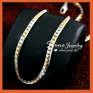 18K YELLOW GOLD GF TWIST SWIRL WAVE CHAINS WOMENS GIRLS SOLID NECKLACE GIFT 45cm