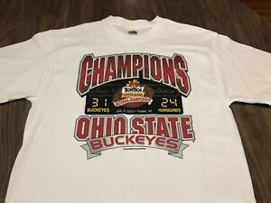 Ohio State Buckeyes 2003 College Football Champions Medium White T