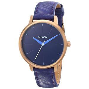 NWTNixon-A1081674-Women-039-s-The-Kensington-Blue-Rose-Gold-Cr71