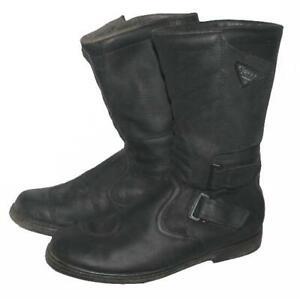 """"""" SUPER """" Motorradstiefel / Biker- Stiefel / Boots in schwarz ca. Gr. 40,5"""