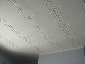 Image Is Loading Styrofoam Ceiling Tile Diy Glue Up On Popcorn
