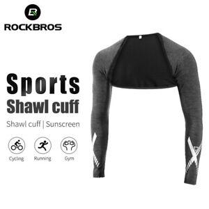 ROCKBROS-Ice-Silk-Sun-Protection-Shawl-Sleeve-Sport-Arm-Sleeves-Oversleeve-Black