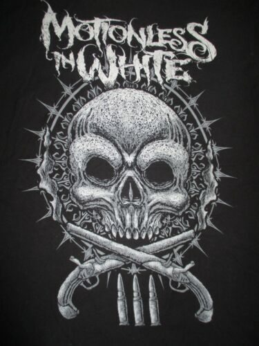 Gothic Metalcore Band MOTIONLESS IN WHITE Skull with Guns (MED)