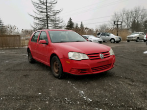 2008 VOLKSWAGON CITY GOLF *175KMS* AS IS SPECIAL *SUNROOF*